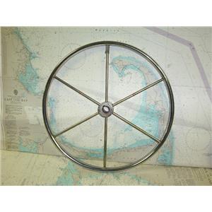 """Boaters' Resale Shop of TX 1711 2525.11 STAINLESS STEEL 20"""" STEERING WHEEL (1"""")"""