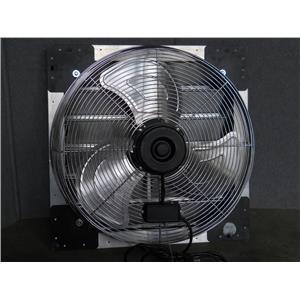 """AirMaster 24"""" Shutter Mount Exhaust Fan Model LPSF24 120Vac 60Hz 2.44A"""