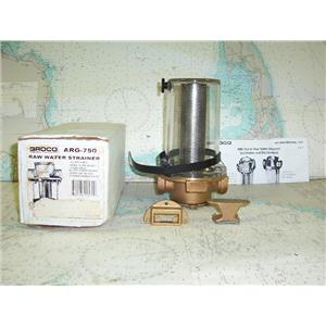 """Boaters' Resale Shop of TX 1712 0275.22 GROCO ARG-750 RAW WATER STRAINER-3/4"""""""