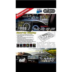 HC-Cargo HC-4C HUD Head Up Display OBD2 II MPH KM/H Speed Warning Speedometer