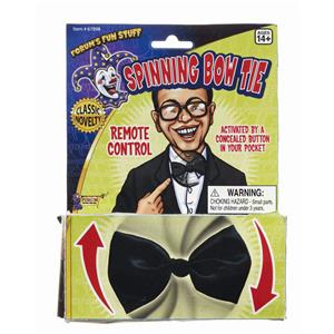 Black Spinning Bow Tie