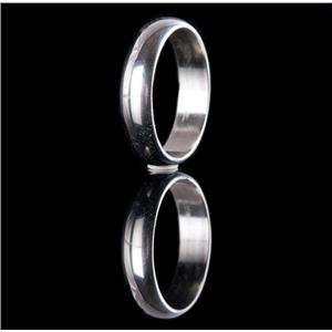 14k White Gold Traditional Style Wedding / Anniversary Band 4.42g Size 8