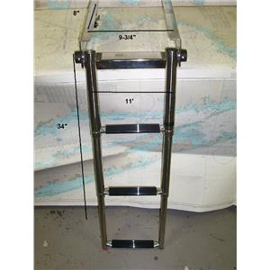 Boaters' Resale Shop of TX 1711 1724.01 DIVE-N-DOG 3 STEP TELESCOPING LADDER
