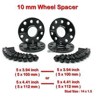 4 pcs 10mm 5 Studs 14 x 1.5 PCD 5 x 100 / 5 x 112 mm Wheel Spacer Spacers