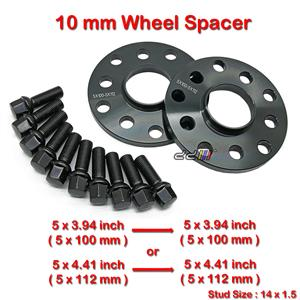 2 pcs 10mm 5 Studs 14 x 1.5 PCD 5 x 100 / 5 x 112 mm Wheel Spacer Spacers