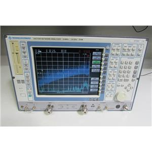 Rohde & Schwarz ZVM Network Analyzer, 20GHz Opt B4,B16, B17, B21,B24, Calibrated