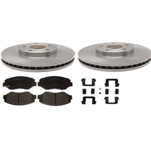 Front brake kit pads rotors & hardware(Fits:iNissan Cube Sentra & Versa 07 to14)