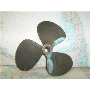 """Boaters' Resale Shop of TX 1712 1141.01 BRONZE 3 BLADE 14LH14 PROP FOR 1"""" SHAFT"""