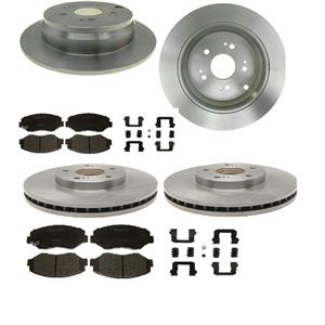 Front and Rear  Brake Disc Rotors Ceramic Pads Kit HONDA CR-V ACURA RDX