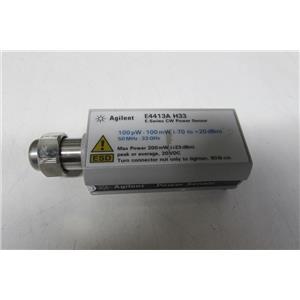Agilent E4413A Wide Dynamic Range Power Sensor, E-Series, 33GHz, Opt H33
