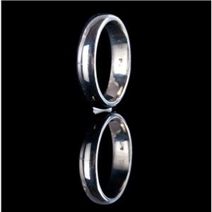 18k White Gold Traditional Half Round Style Wedding / Anniversary Band 4.9g
