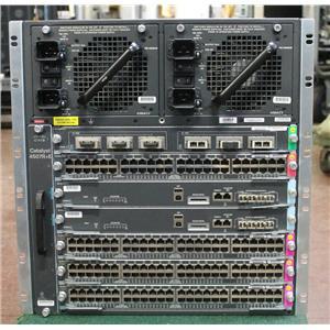 Cisco Catalyst WS-C4507R+E 7 Slot Chassis w 2x WS-X45-SUP7-E 1x WS-X4606-X2-E