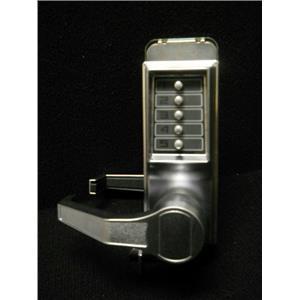KABE Mechanical Push Button Lockset,5 Button,Vandal Resistant Satin Chrome