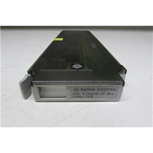 Agilent HP 34906A 2 GHz Dual 1:4 RF Mux, 75 Ohm Module for 34970A