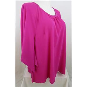 Catherines Size 2X Fuchsia Kimono Sleeve Top