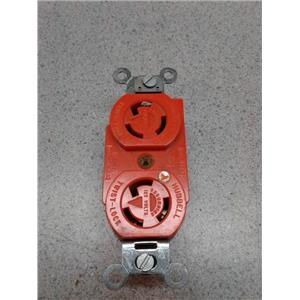 Hubbell 125V Twist Lock Red Receptacle