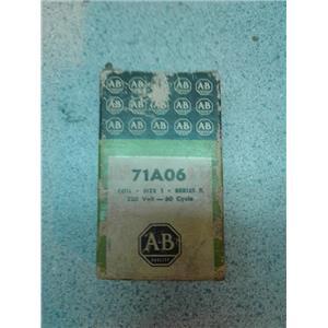 Allen Bradley 71A06 Coil Size 1