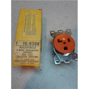 Hubbell IG9308 30A 125V Reinforced Power Receptacle