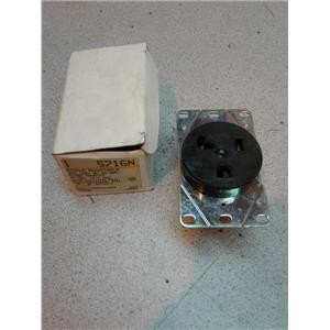 Cooper 5716N Single Receptacle 30A 125V 2P 3W Grounded Flush Mounted Outlet