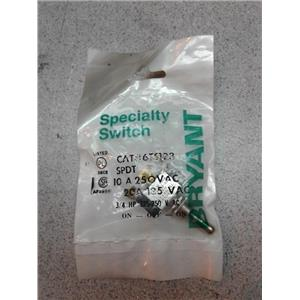 Bryant 6TS123 Specialty Switch, Spdt, 10A, 250Vac, On-Off-On