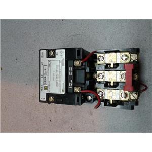 Square D 8536SBG2S Non-Reversing Starter, Nema Size 0