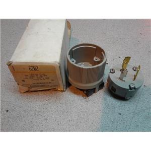 Arrow Hart 6202 Locking Plug, 20A, 125V, 2P, 3W