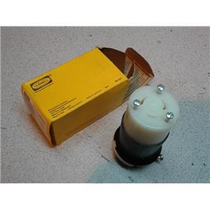 Hubbell HBL2313 Hbl Connector Body, Insulgrip Twist-Lock, 20A, 125V, 2P