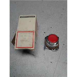 Cutler-Hammer 10250T102 Switch Actuator, 10250T Series Pushbutton Switch, Red