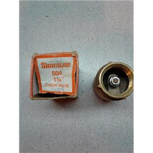 "Simmons 504 11/4"" Check Valve"