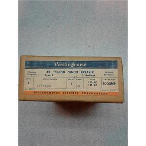Westinghouse 1774189 1Pole 30 Amp De-Ion Circut Breaker
