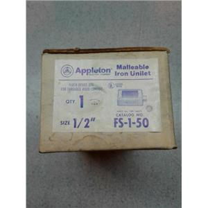 "Appleton Electric Products FS-1-50 Malleable 1/2"" Malleable Iron Unilet"