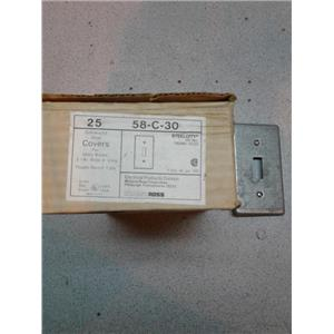Mid-Land Ross 58-C-30 Steel Covers Toggle Switch Box of 25