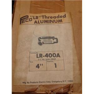 "Peco LR-400A Lr Threaded Aluminum Conduit 4"""