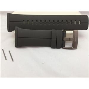 Suunto Watch Band For Model Spartan. Original Sport Black Silicone Rubber Strap