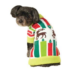 Reindeer Ugly Christmas Sweater Pet Dog Size Large