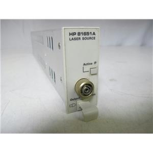 Agilent 81651A Laser Source 1550nm Module for 8163A