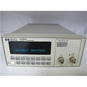 Agilent HP 8156A Optical Attenuator opt 101 (HIGH PERFORMANCE VERSION)