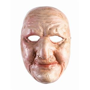Full Front Face Mask Weathered Old Lady Man Chubby Wrinkled Plastic