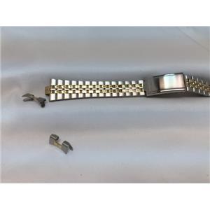 Seiko Original WatchBand SWZ144 Bracelet Womens 13mm Curved End Two Tone