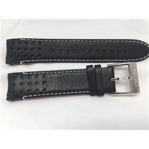 Seiko Original WatchBand Mod# SSC361,SRG019, Band# LOCE B 21.Curved End Leather