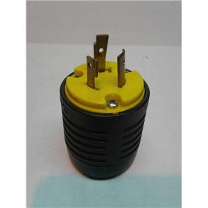Legrand L520P 20 Amp Nema Plug L520 - Black Back, Yellow Front Body