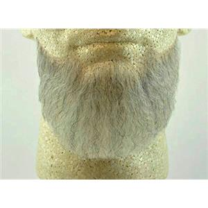 Lt Grey Human Hair Goatee Chin Beard Costume Beard 2023