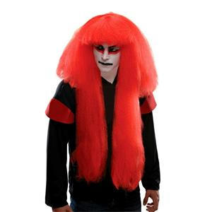 Kabuki Japanese Samurai Red Costume Adult Wig