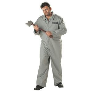 Axe Murderer Gray Jumpsuit Plus Size Adult Costume