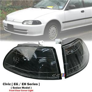 1 Pair Clear Front Corner Light Lamp For Honda Civic EG EH 4DR Sedan 1992-1995