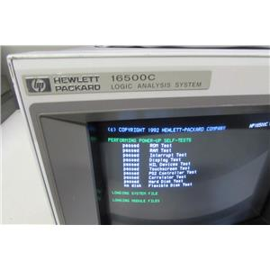 Agilent HP 16500C Logic Analyzer w/ 16522A, 16555A modules