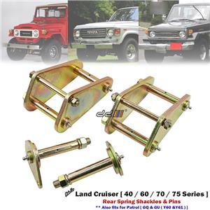 "2"" 50mm Rear Lift Kit Greasable Shackle & Spring Pin For Land Cruiser 40 70 75"