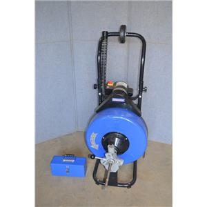 Westward 22XP40 Drain Cleaning Machine, 1Ph, 120VAC, 125' Max Run