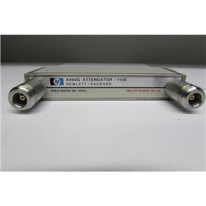 Agilent HP 8494G Programmable Step Attenuator, DC to 4 GHz, 0 to 11 dB, opt. 001