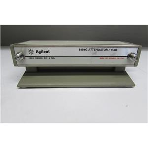 Agilent HP 8494G Programmable Step Attenuator, DC to 4 GHz, 0 to 11 dB, opt. 002